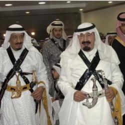 شاهد.. صورة خادم الحرمين تزين سماء دبي