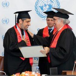 زوجان سعوديان يتخرجان بنفس الوقت من جامعة إيرلندية
